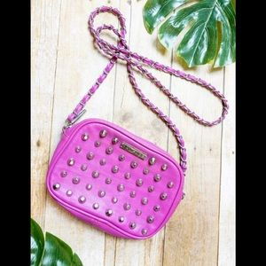 Rampage Crossbody Faux Leather Studded Hot Pink